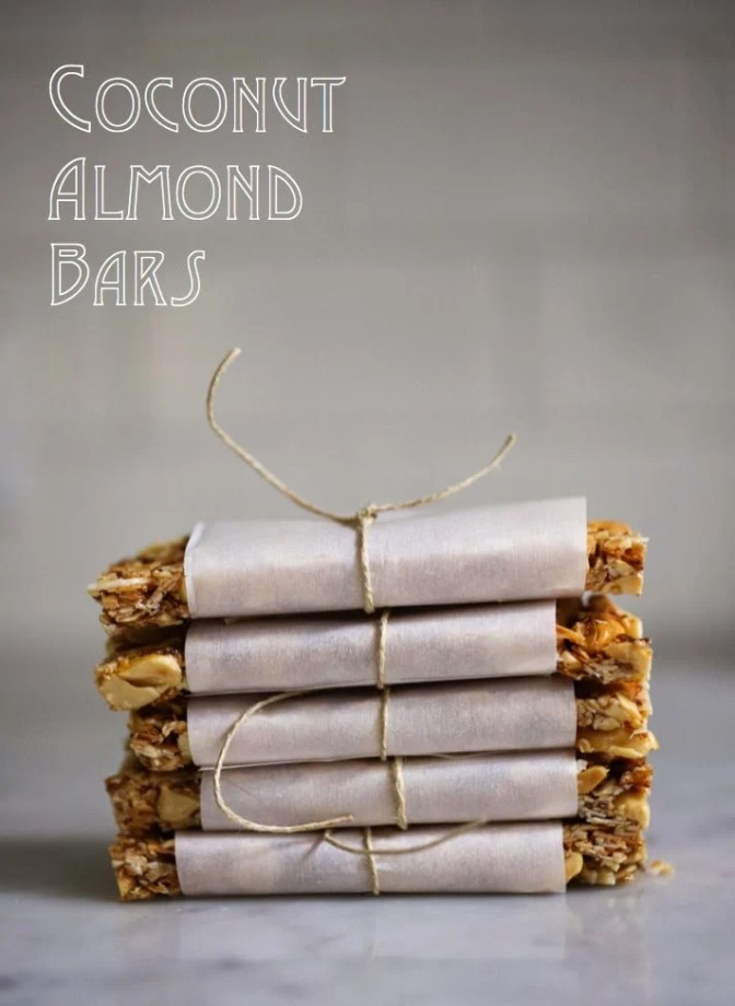 """A simple tasty recipe for Coconut Almond Bars, similar to """"Kind Bars"""". Gluten Free, sugar free, sweetened with honey. 