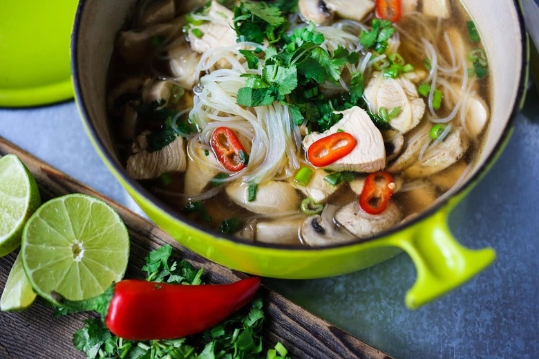 Thai Chicken Noodle Soup Feasting At Home