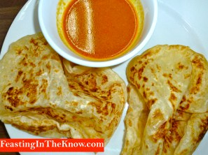 Roti canai with the right curry sauce