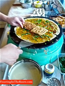 Tianjin crepe making
