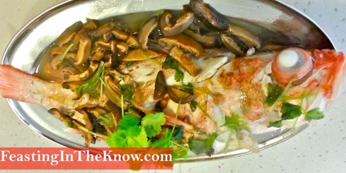 Chinese steamed fish