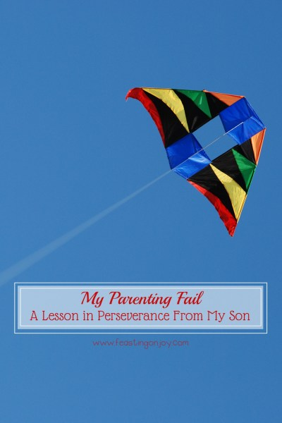 My Parenting Fail A Lesson in Perseverance From My Son V | Feasting On Joy