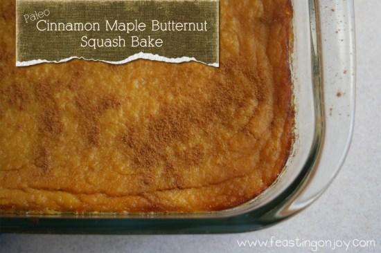 Paleo Cinnamon Maple Squash Bake