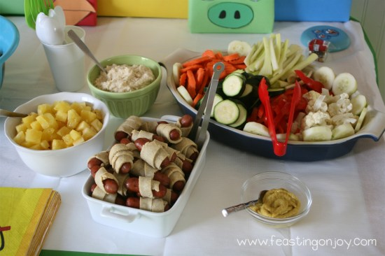 Paleo Pigs in a blanket for Angry Birds Birthday Party
