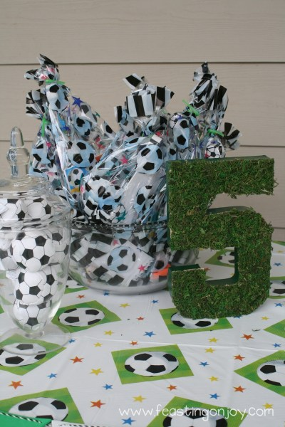 Soccer Birthday Party Favors and Grass 5