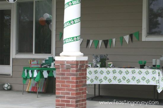 Soccer Birthday Party Goal Banner