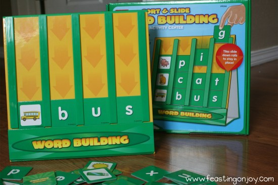Close Up Of Word Building Game