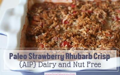 Paleo Strawberry Rhubarb Crisp {Dairy Free & Nut Free}