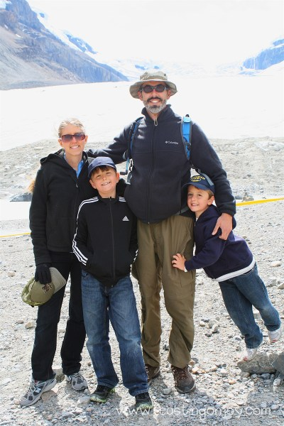 The whole family at Athabasca Glacier