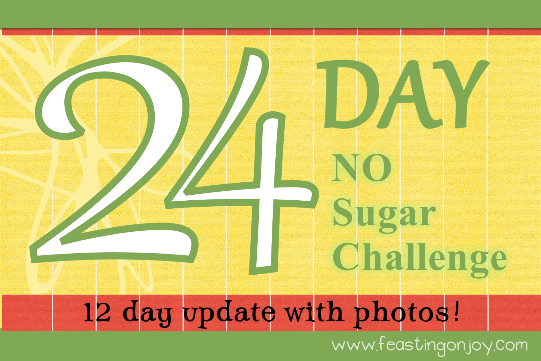 12 Day Update On The 24 Day No Sugar Challenge