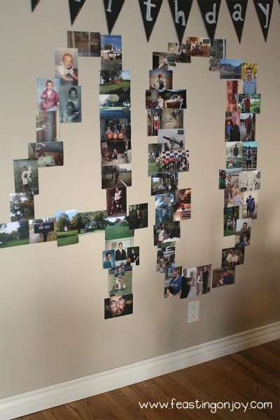 Fortieth Birthday Number Wall Photos