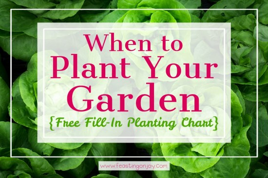 When to Plant Your Garden {With Free Fill-In Planting Chart} 3 | Feasting On Joy
