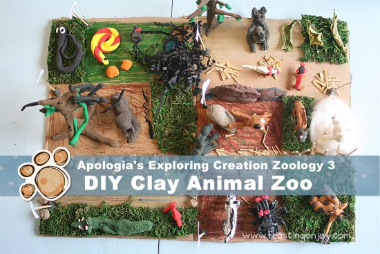 Apologia Exploring Creation Zoology 3 DIY Clay Animal Zoo