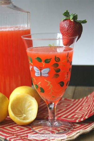 Honey Sweetened Strawberry Lemonade {AIP & GAPS Friendly} 2 | Feasting On Joy