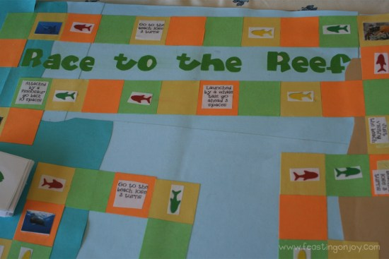 Race to the Reef Front of Game