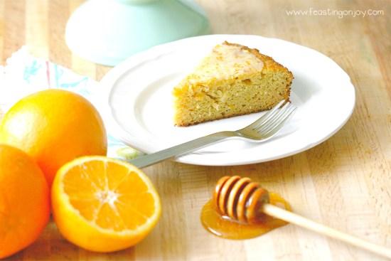 Decadent Grain Free Orange Ginger Honey Cake 2| Feasting On Joy