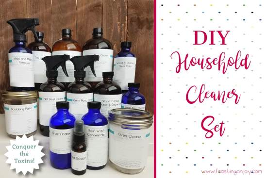 DIY Household Cleaning Set with Essential Oils Kit | Feasting On Joy