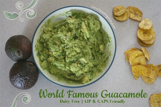 World Famous Guacamole - Dairy Free, AIP & GAPS Friendly | Feasting On Joy