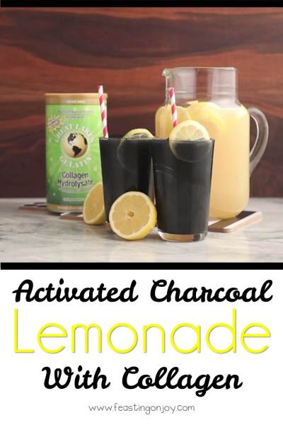 Activated Charcoal Lemonade with Collagen | Feasting On Joy
