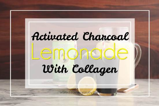 Activated Charcoal Lemonade with Collagen 1 | Feasting On Joy