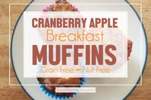 Grain Free, Nut Free Cranberry Apple Breakfast Muffins