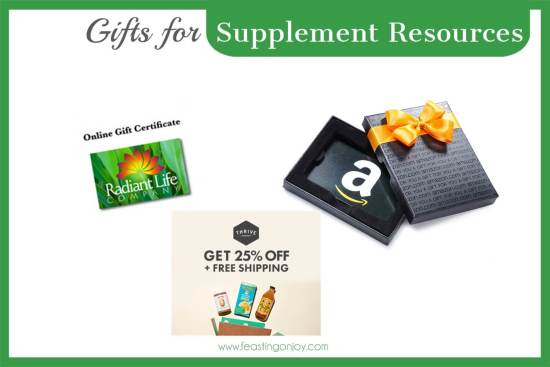 The Colossal Gift Guide for Living the Best Holistic Life (Supplement Resources} | Feasting On Joy