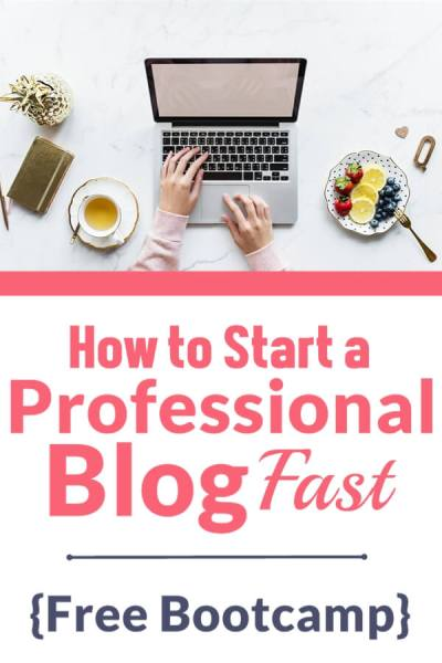 How to Start a Professional Blog Fast {Free Bootcamp} | Feasting On Joy