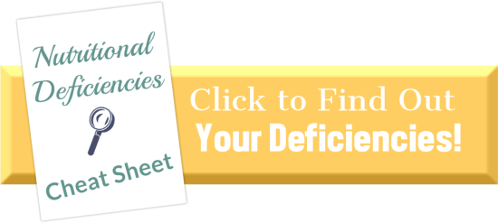 Nutritional Deficiencies Cheat Sheet | Feasting On Joy