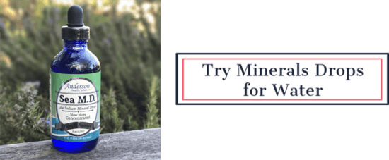 Try Mineral Drops for Water | Feasting On Joy