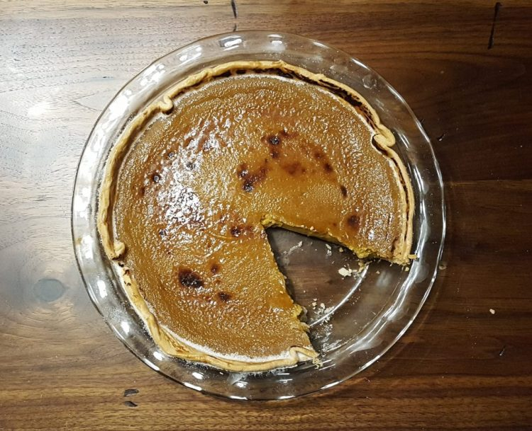 Maple-Bourbon Bruleed Pumpkin Pie | Feast In Thyme