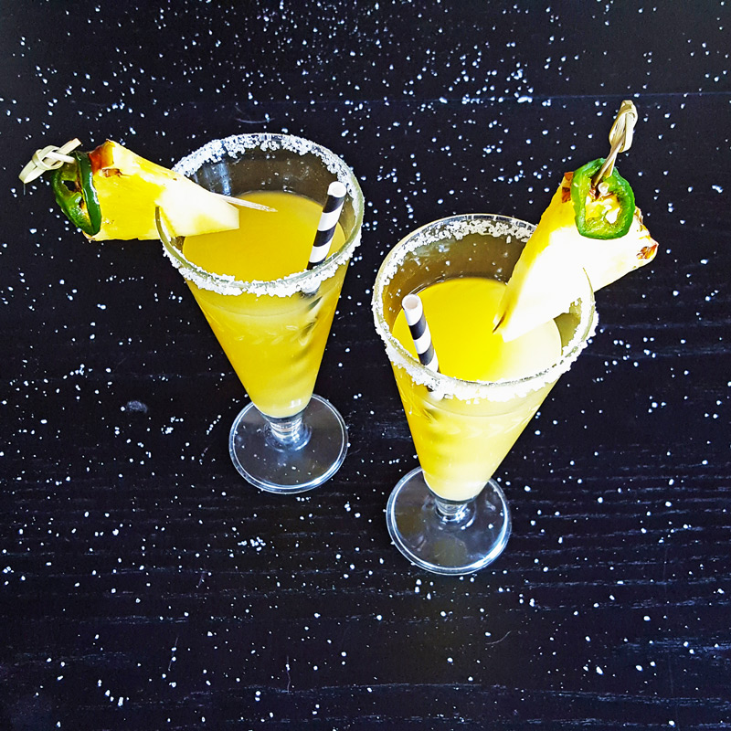 Spicy Jalapeno Pineapple Margarita | Feast In Thyme