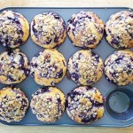 Blueberry Glaze Muffins with Streusel & Lemon Zest | Feast In Thyme