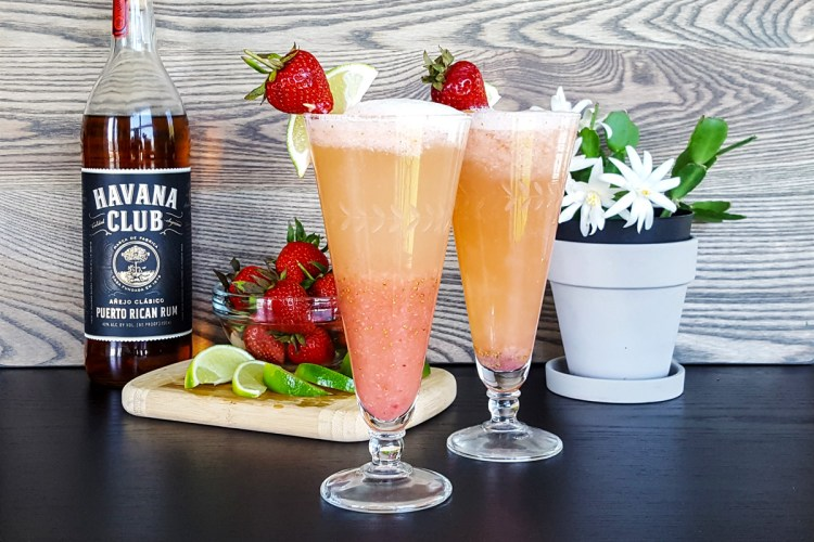 Strawberry Daiquiri Bellini | Feast In Thyme