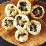 Mini Mixed Mushroom, Pea, & Gruyere Picnic Pies (Vegetarian) | FeastInThyme.com
