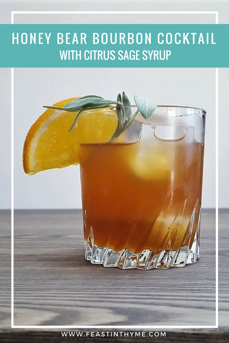 Honey Bear Bourbon Cocktail | FeastInThyme.com