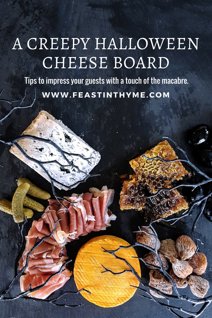 A Creepy Halloween Cheese Board for Fall Entertaining