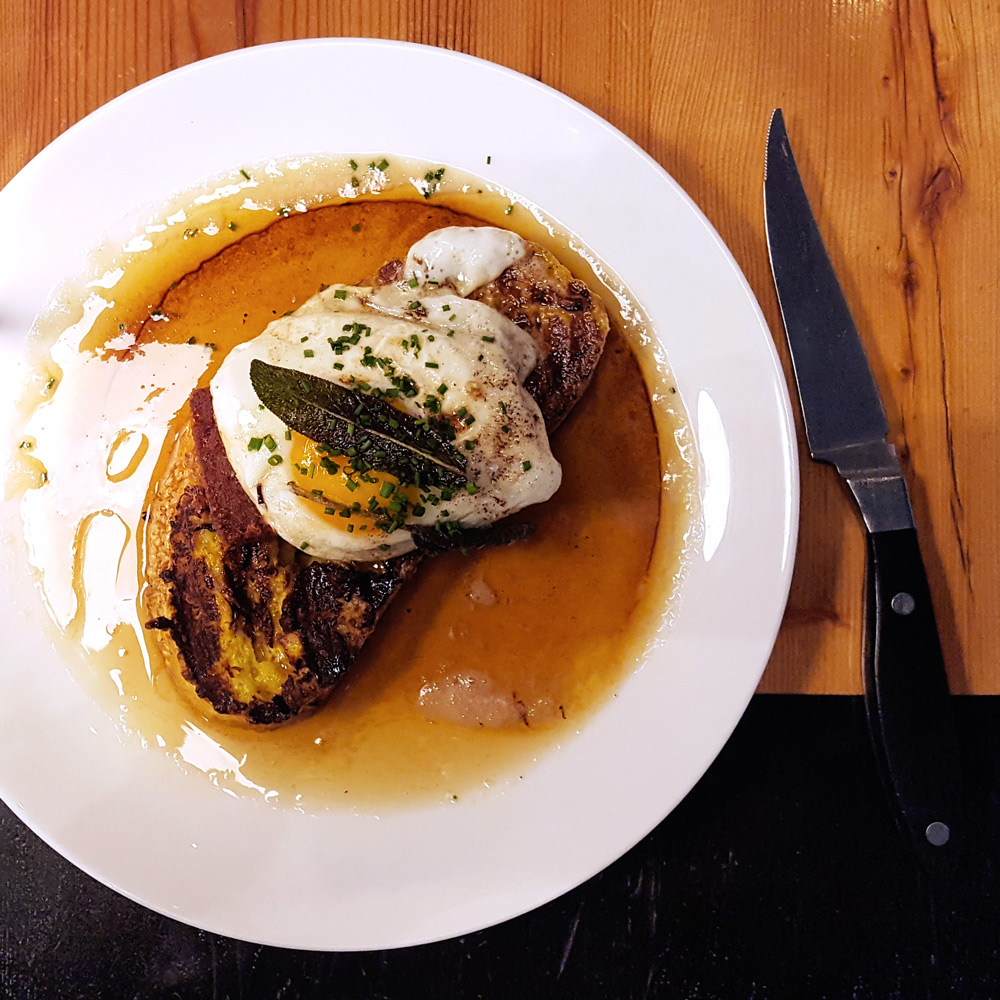 Scrapple French Toast at Kensington Quarters | Thymeline 36 | FeastInThyme.com