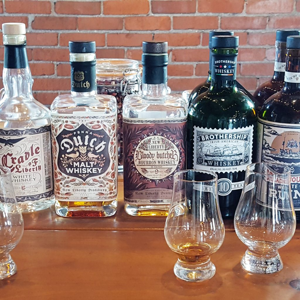 New Liberty Distillery line-up of spirits | Thymeline 36 | FeastInThyme.com