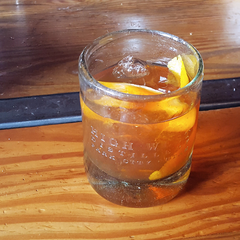 The Old Fashioned Old Fashioned at High West Distillery in Park City, Utah | FeastInThyme.com