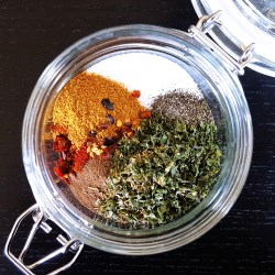 Full of warm spices and hot peppers, this Low FODMAP Jerk Seasoning Spice Blend will add a taste of the #Caribbean to your home kitchen. #lowfodmap #fodmap #spice #recipe | FeastInThyme.com