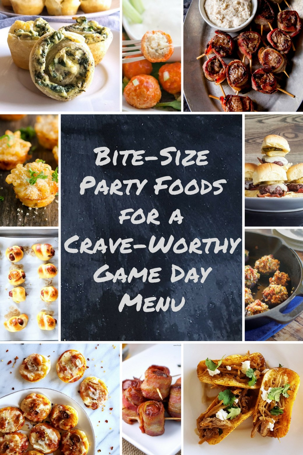 Bite-Size Party Foods for a Crave-Worthy Game Day Menu | FeastInThyme.com #superbowl #gameday #appetizers #party