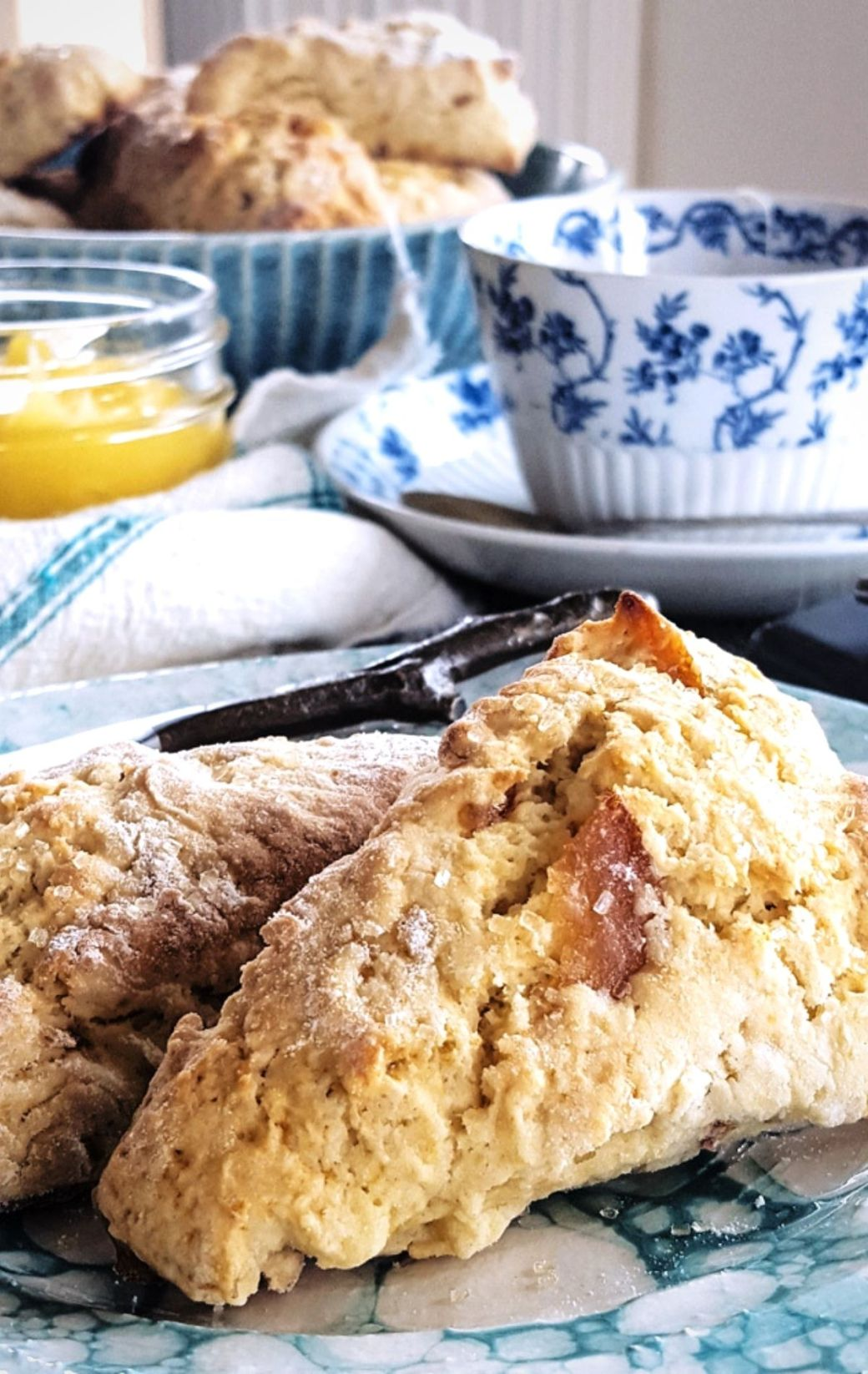 Sweet Orange Scones with Whiskey and Marmalade