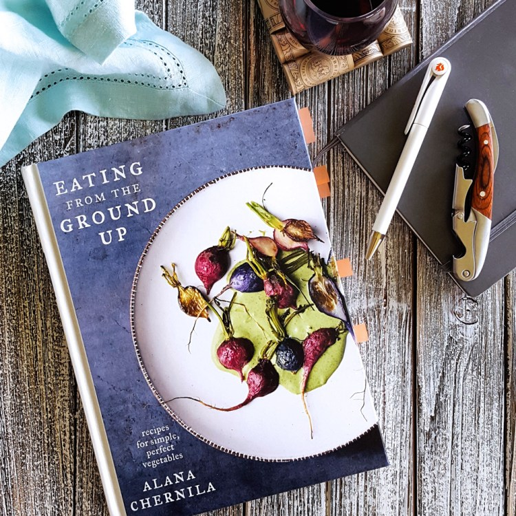 Celebrate farm market season and showcase your bounty of vegetables with Alana Chernila's newest cookbook, Eating from the Ground Up: Recipes for Simple, Perfect Vegetables. #cookbookreview #cookbooks #chernila #eatingfromthegroundup #clarksonpotter | FeastInThyme.com