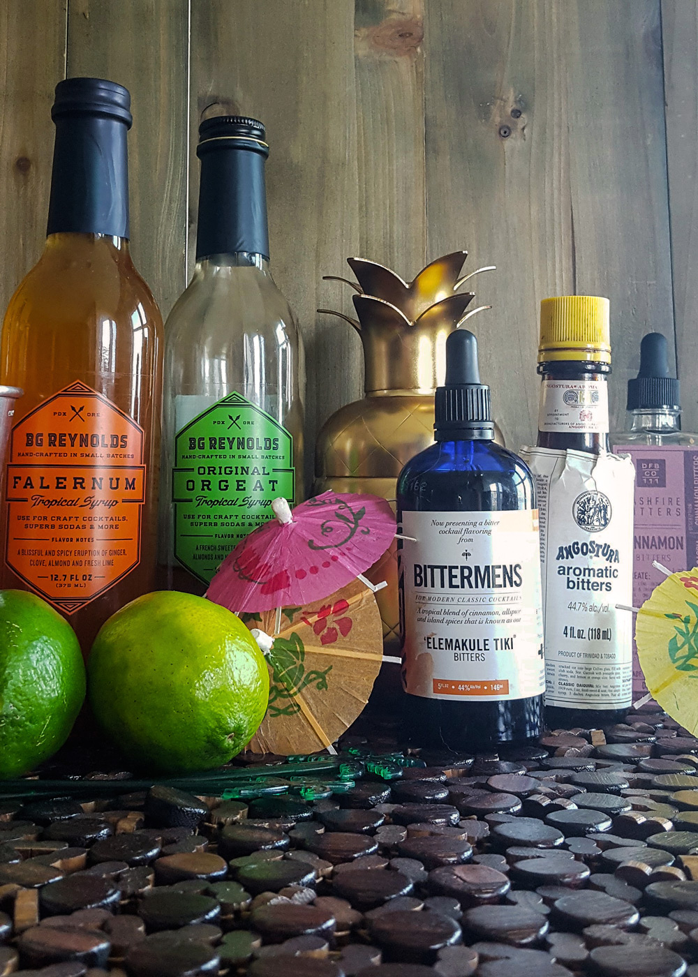 Syrups and bitters for your Home Tiki Bar. | FeastInThyme.com