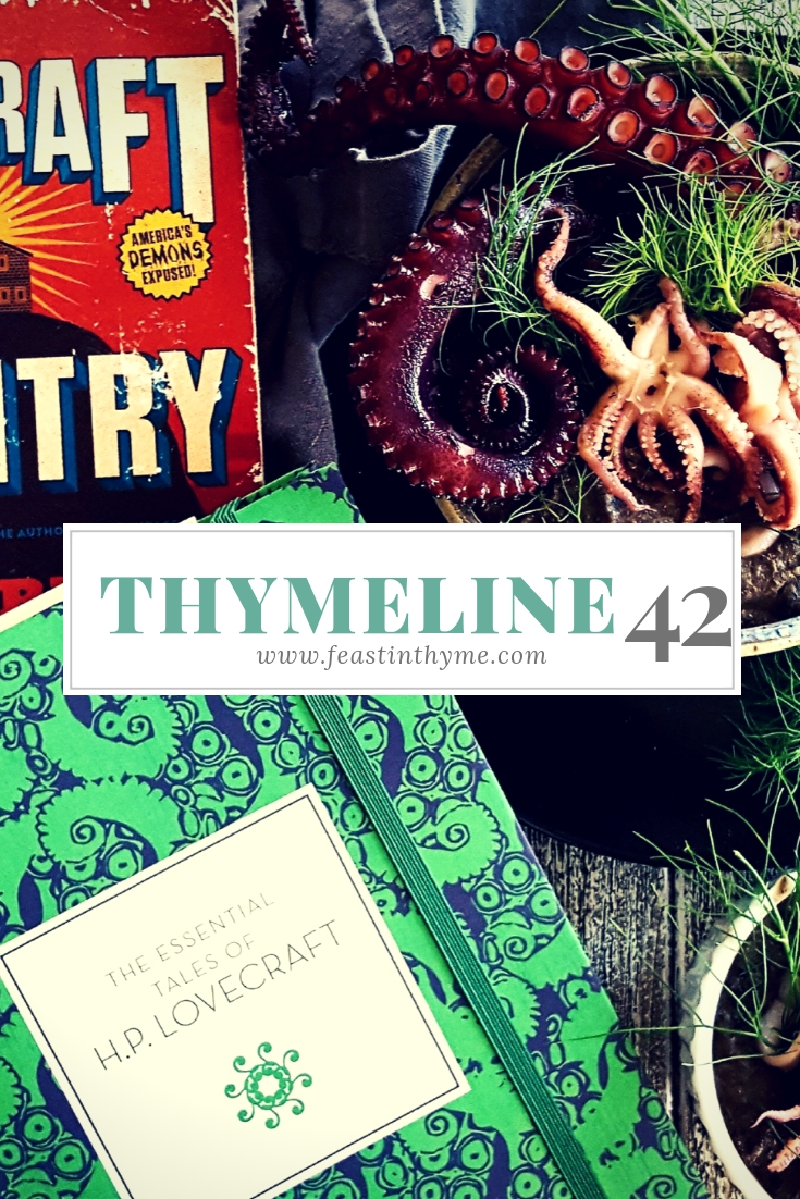 Fall officially begins; horrors of the deep sea; #Wolfenoot 2018, & the best Halloween releases this year in today's very special edition of Thymeline! | FeastInThyme.com
