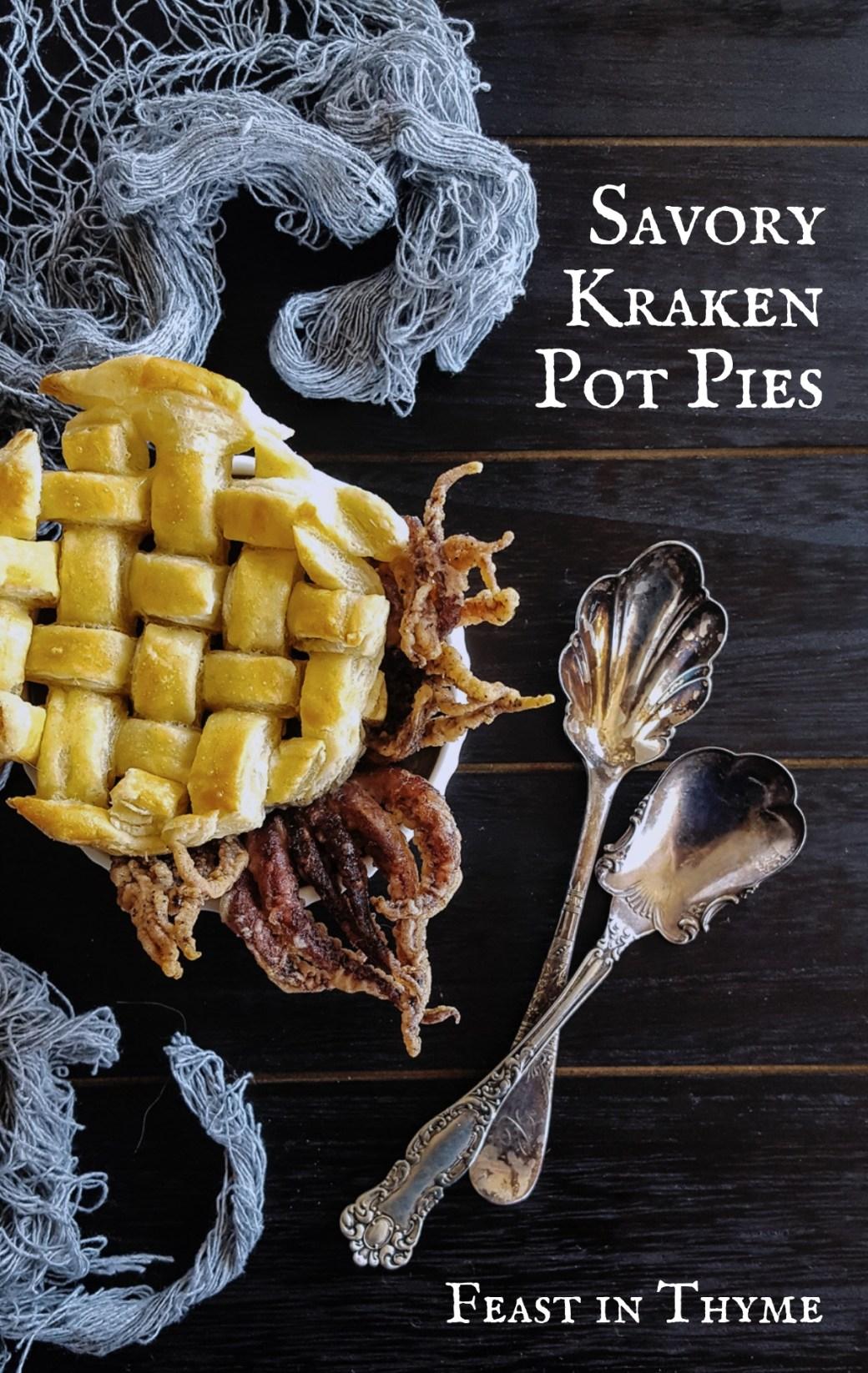 Savory Kraken Pot Pies - A Creepy Crab & Calamari Seafood Bisque