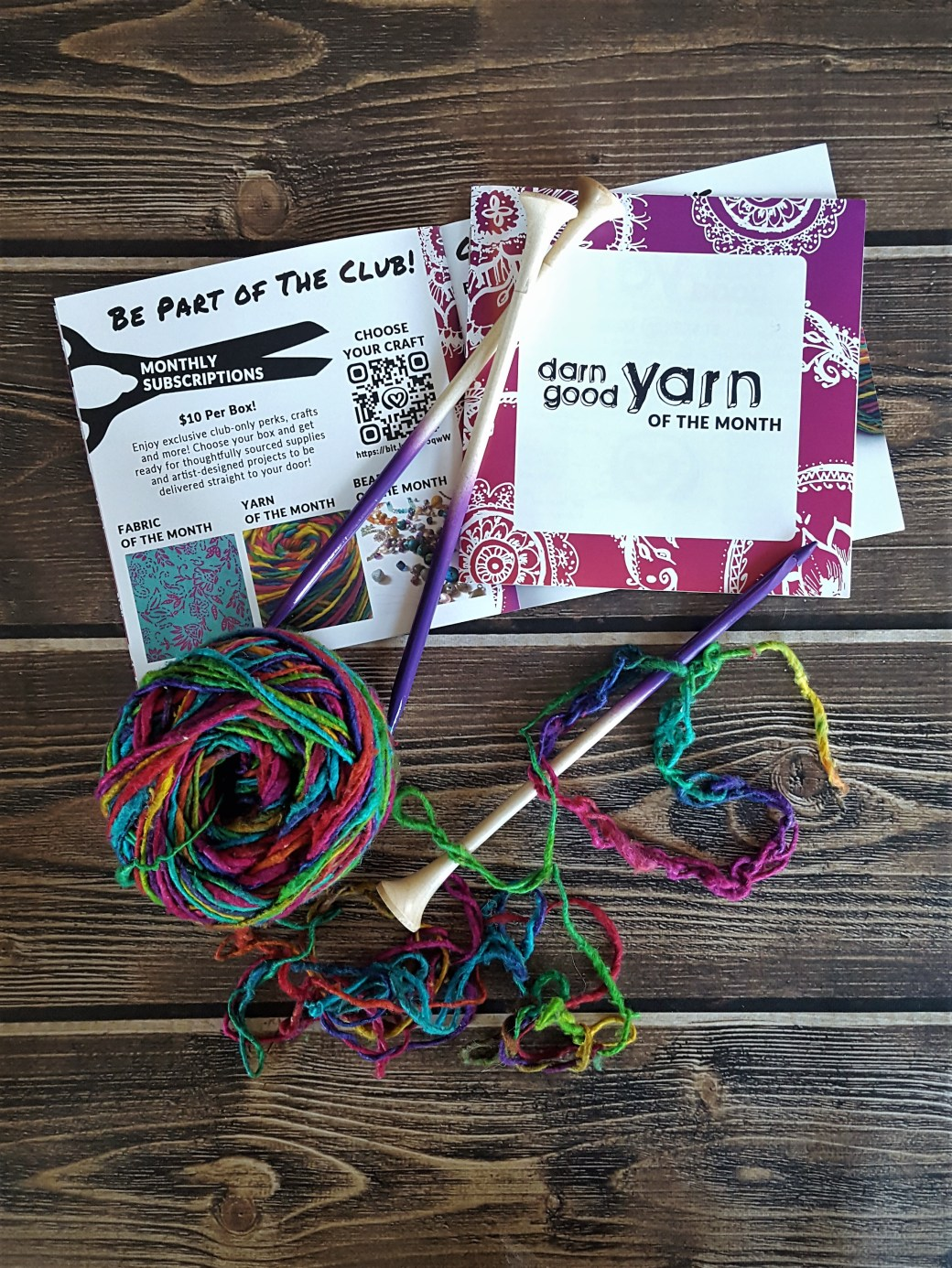 Darn Good Yarn | A Subscription Box Review & Giveaway