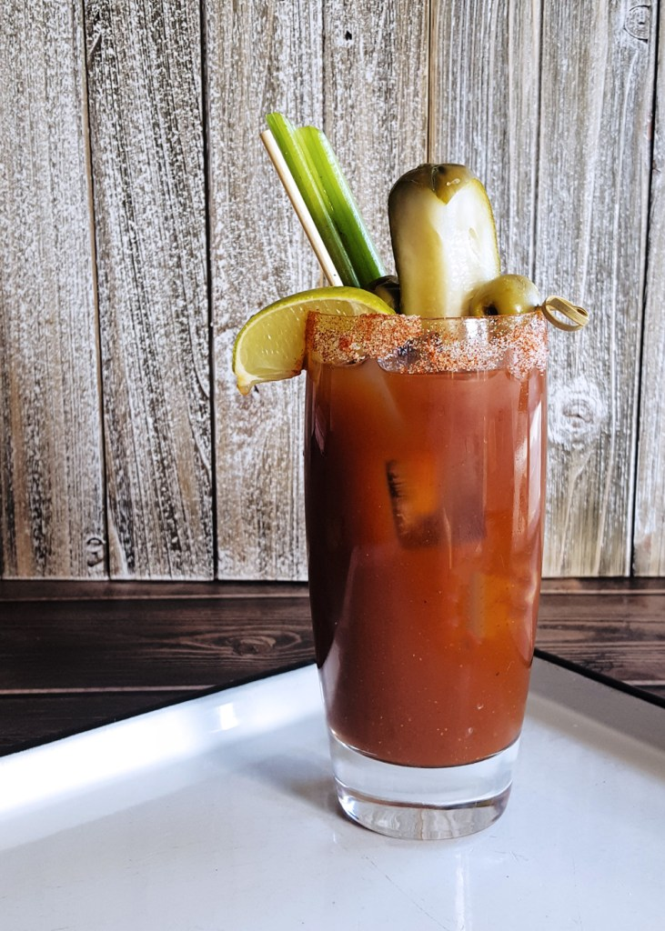 Profile image of a tall glass of Bloody Mary Cocktail.