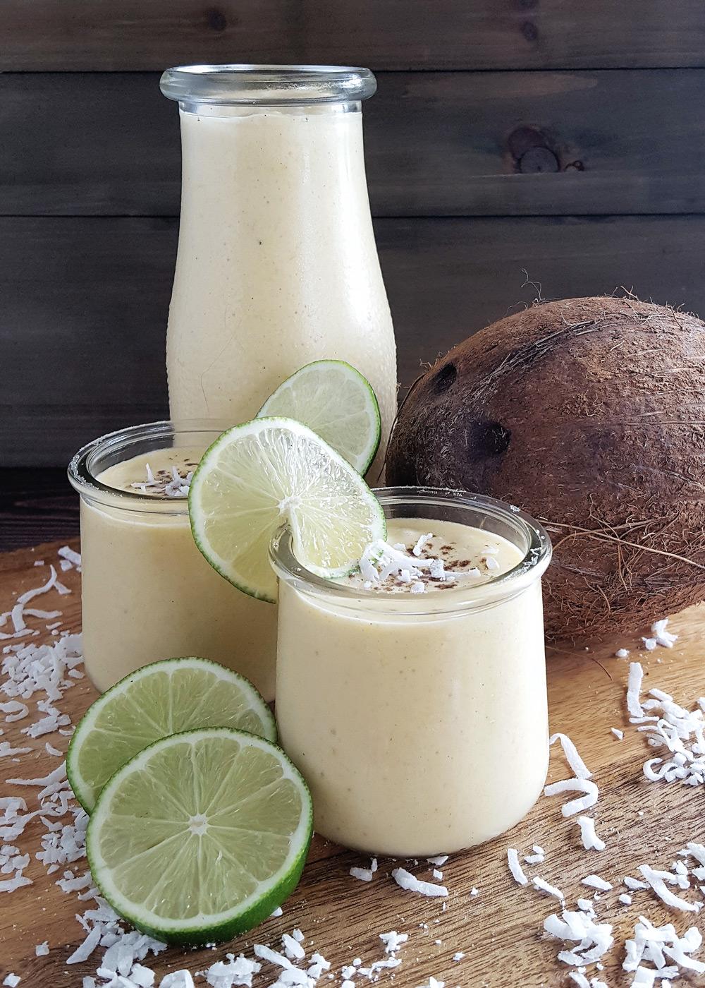 Mango Coconut Smoothie with Lime & Cardamom