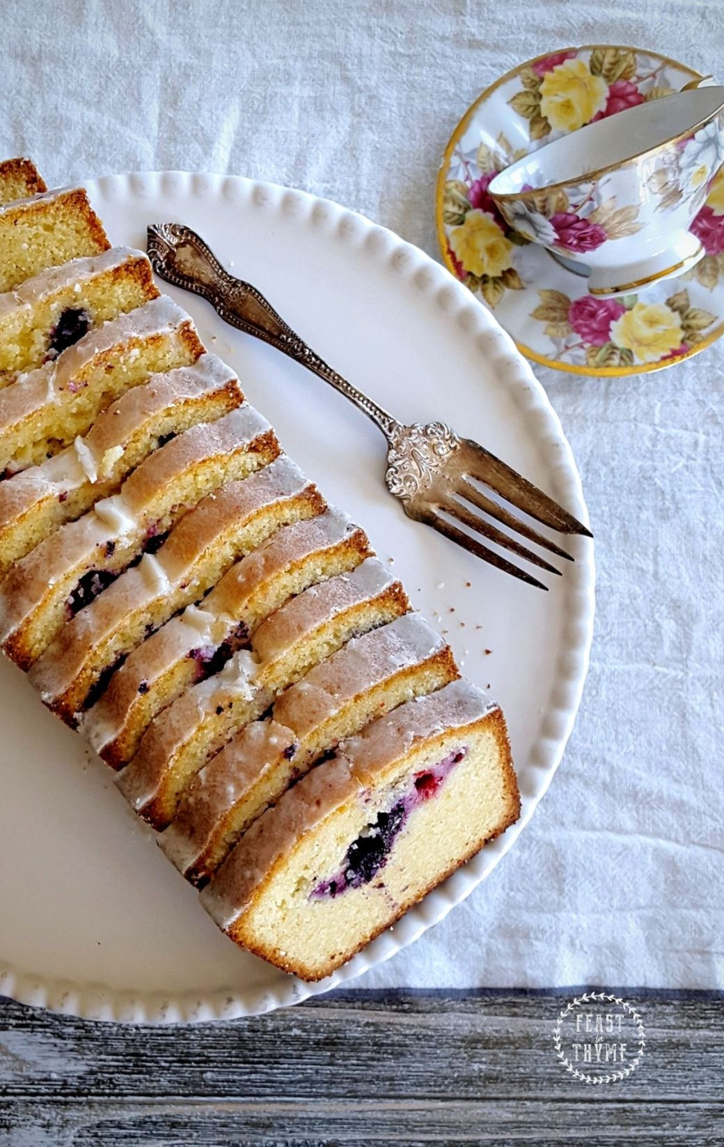 Afissa's Harken Cake with Vanilla Glaze & Mixed Berries